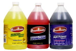clean with boomstatic industrial strength degreaser